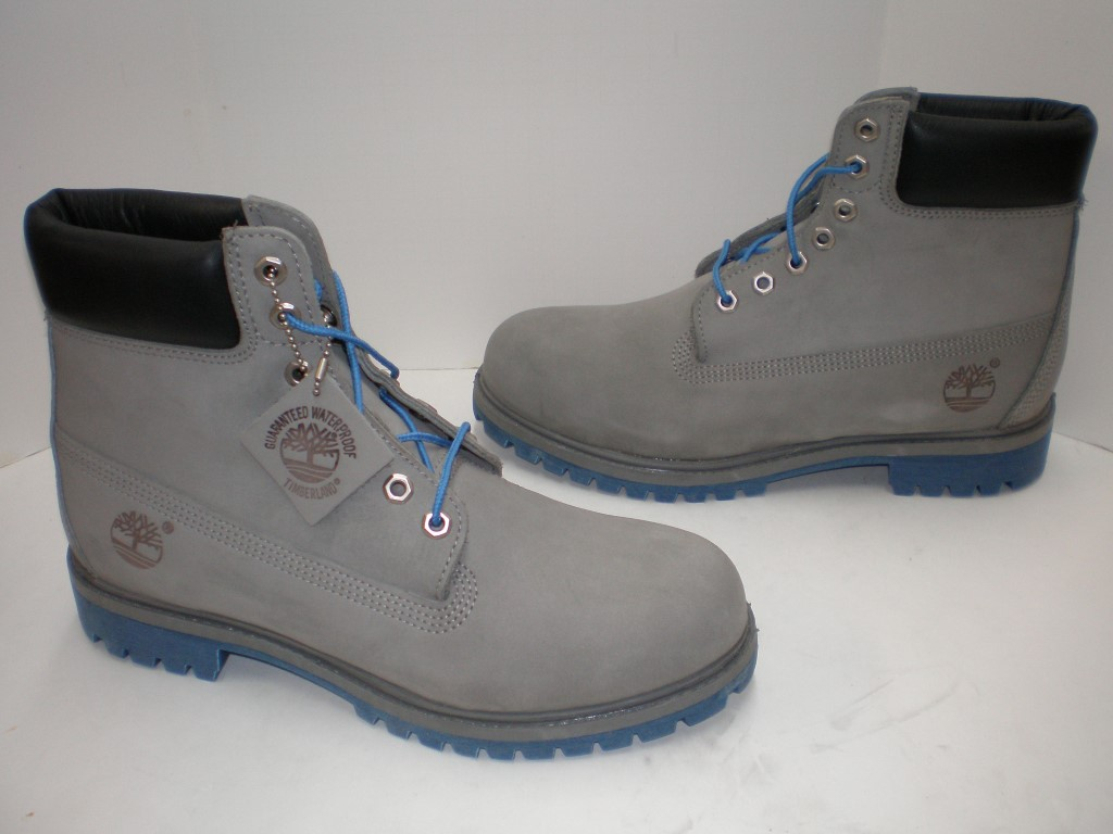 timberland men's boot 6 inch premium 6325a grey blue