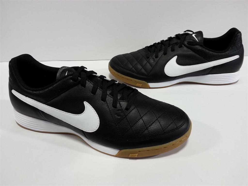 Nike Tiempo Genio Black Futsal Tiempox Ii Leather Ic Shoes Hitam Zapatillas De Ftbol Sala Image Is Loading Nib Mens