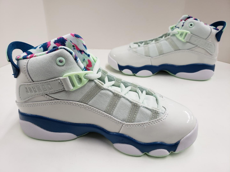buy online 80a15 9b25e NIB Kids Jordan 6 Rings (PS) Pre-School Barely Grey White Green ...
