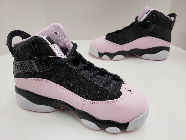 wholesale dealer 440ea 75e35 Kids Girls Jordan 6 Rings (PS) Pre-School Black Pink Foam Anthracite ...