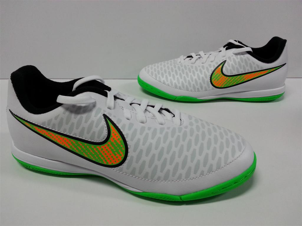 466e89b8a3ea Youth Nike Jr Magista Onda IC White Poison Green Black Total Orange ...