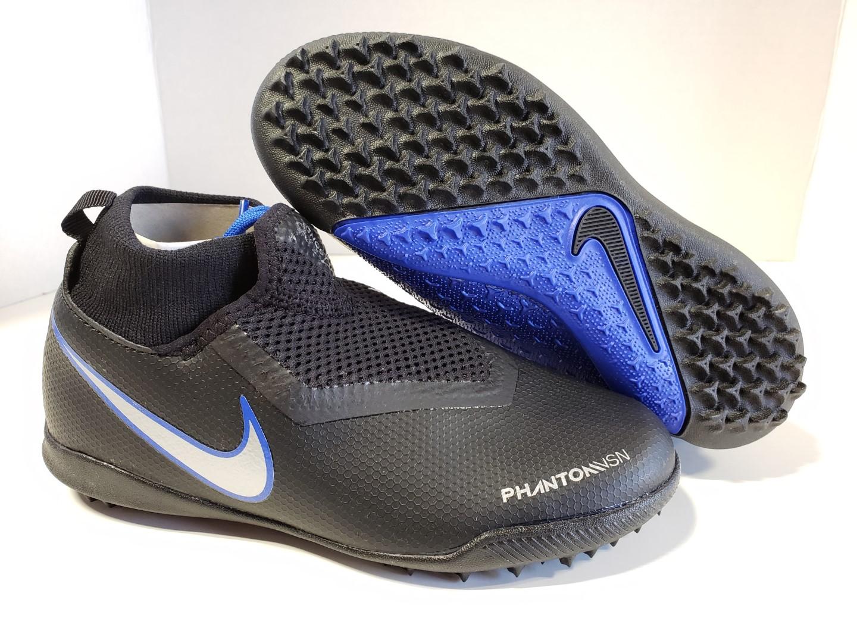 7aa7ed7f6 NIB Nike JR Phantom VSN Vision Academy DF TF Black Metallic Silver ...