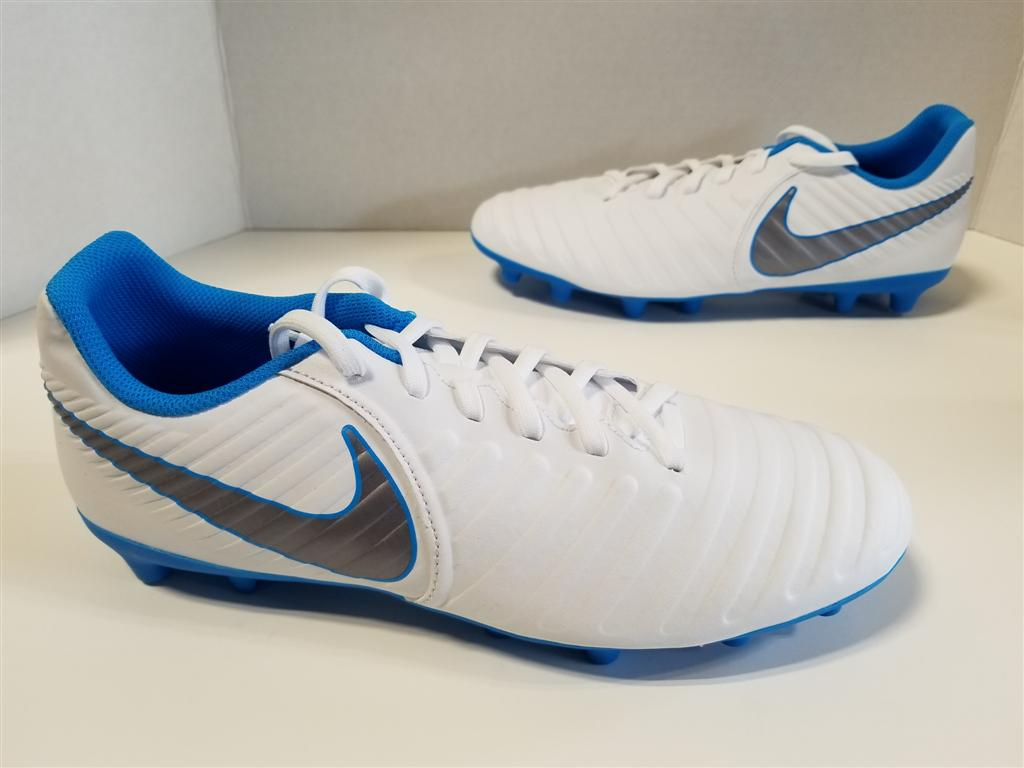 c061e2689 NIB MENS Nike Tiempo Legend 7 Club FG Cleats White Metallic Grey ...