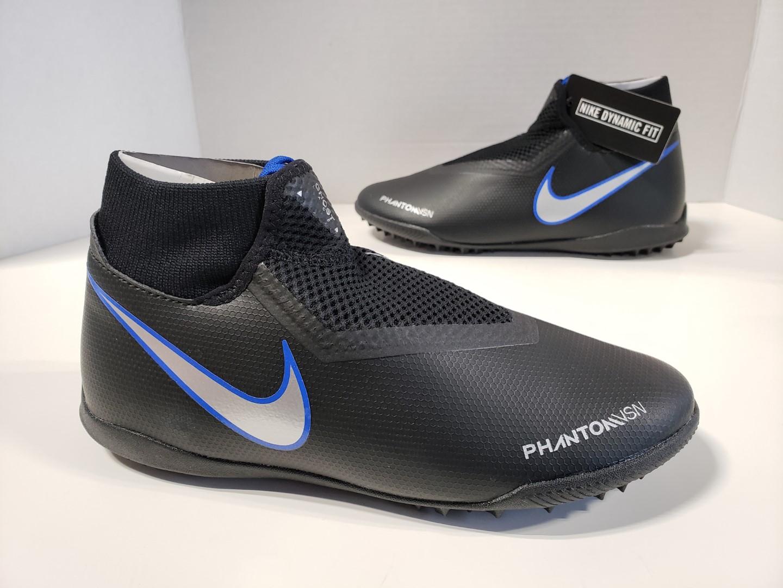 e5e7dba81 NIB Mens Nike Phantom VSN Academy DF TF Cleats Black Metallic Silver ...