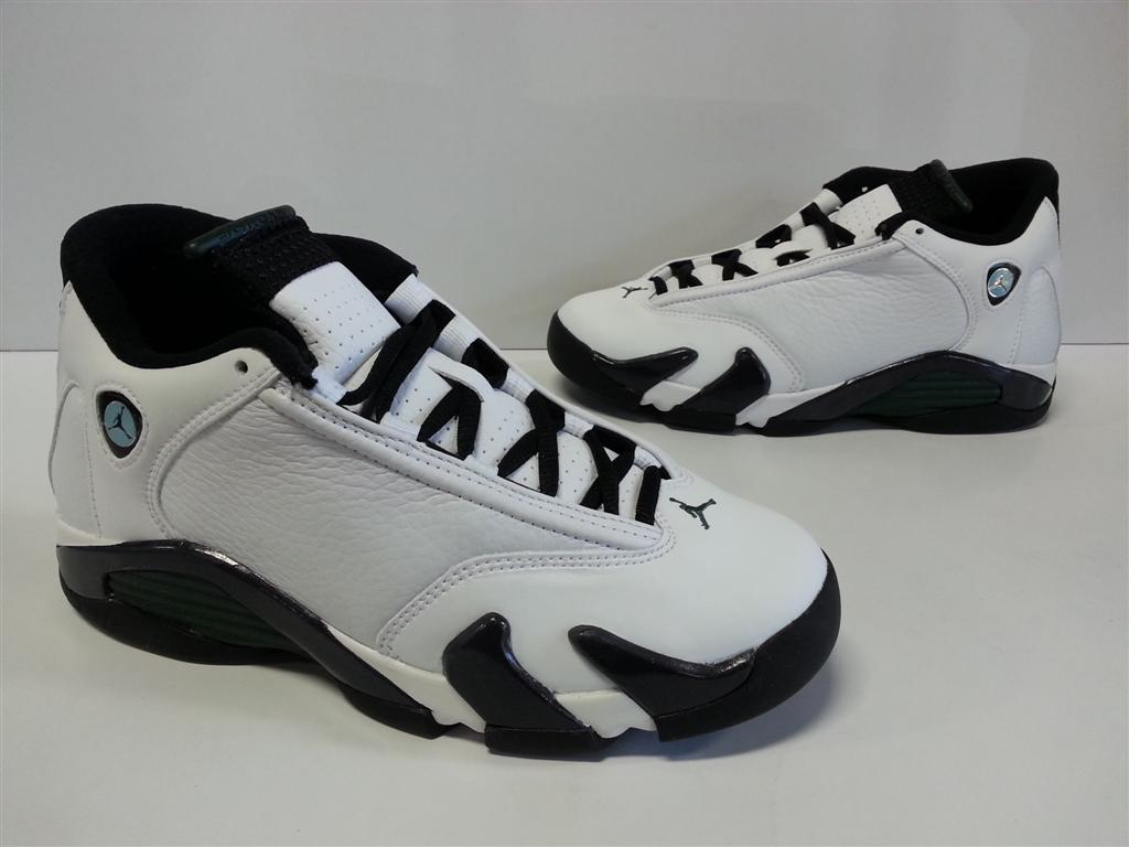 bf6bc6a34bf NIB Youth Boys Nike Air Jordan 14 Retro BG White Black Oxidized ...