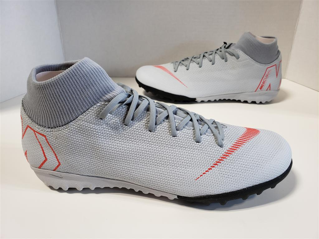 dade52f1155 NIB Mens Nike Superfly 6 Academy TF Cleats Wolf Grey Light Crimson ...